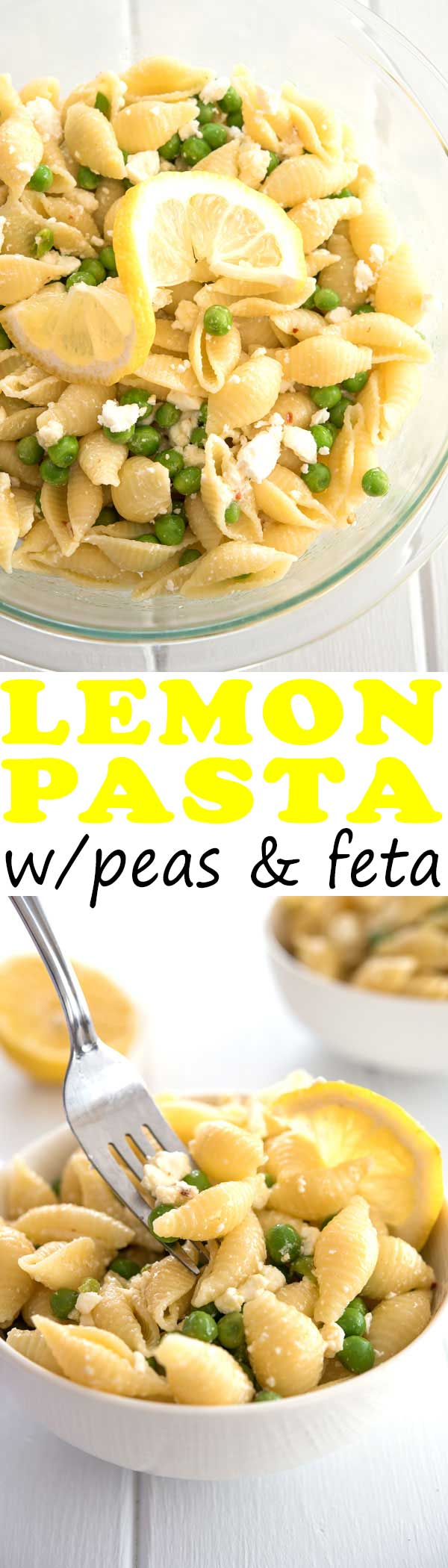 My husband said he could eat this lemon pasta salad everyday for lunch! Next time I'll use broccoli and parmesan with the garlic sauce. #dinner #dinnerrecipes #easydinner #mealprep