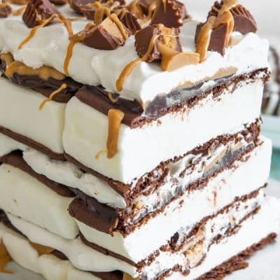 Peanut Butter Ice Cream Sandwich Cake
