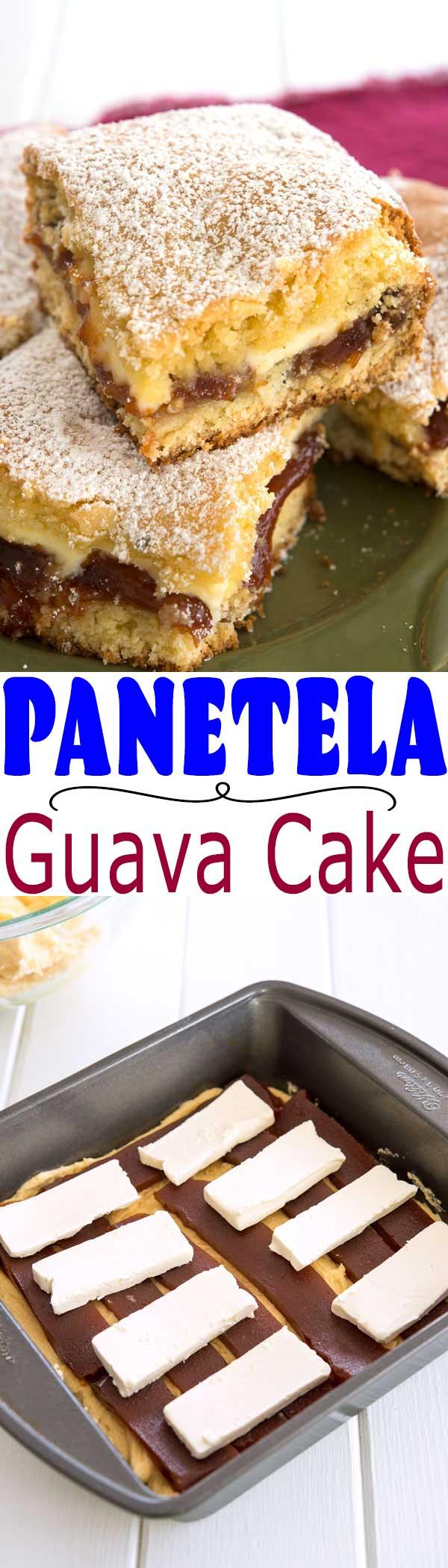 Cream cheese coffee cake meets the Caribbean with this guava cake recipe!   Cubana Panetela de Guayaba receta