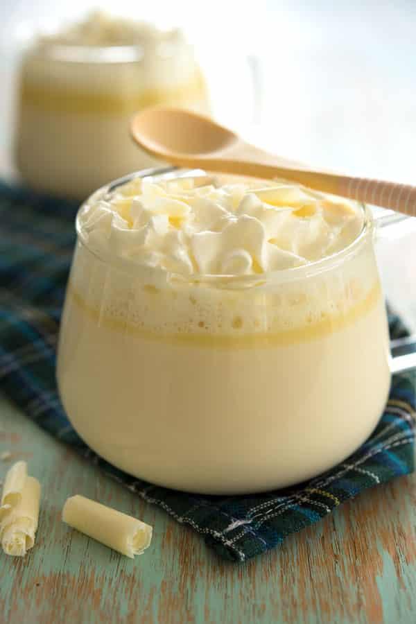 White hot chocolate - quick and easy homemade recipe