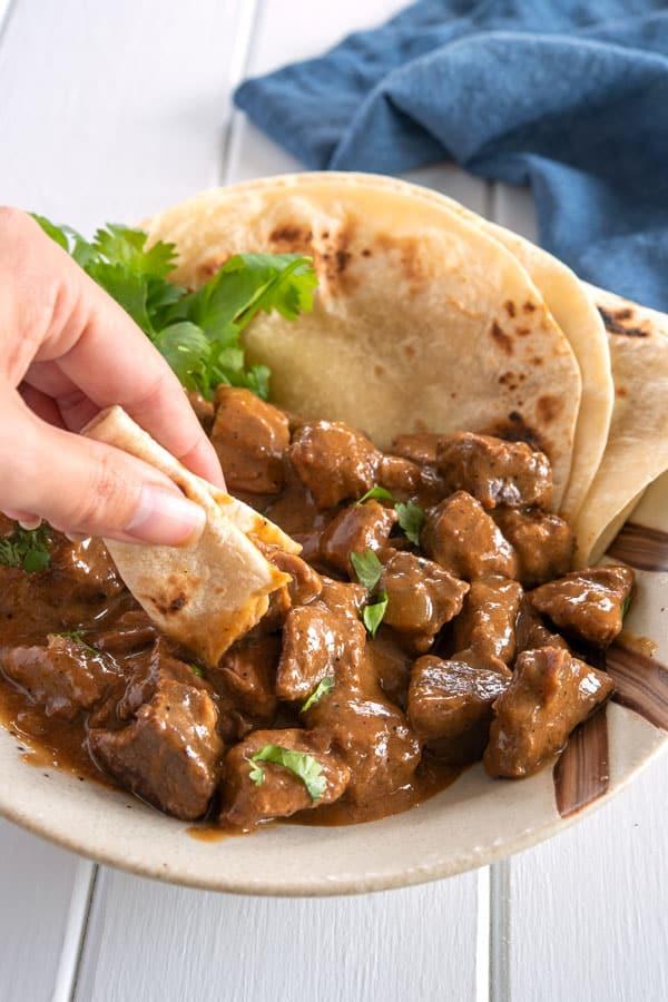 Receta de carne guisada - Como hacer carne guisada - Carne guisada recipe
