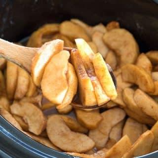 Crock Pot Cinnamon Apples - easy as pie in the slow cooker!
