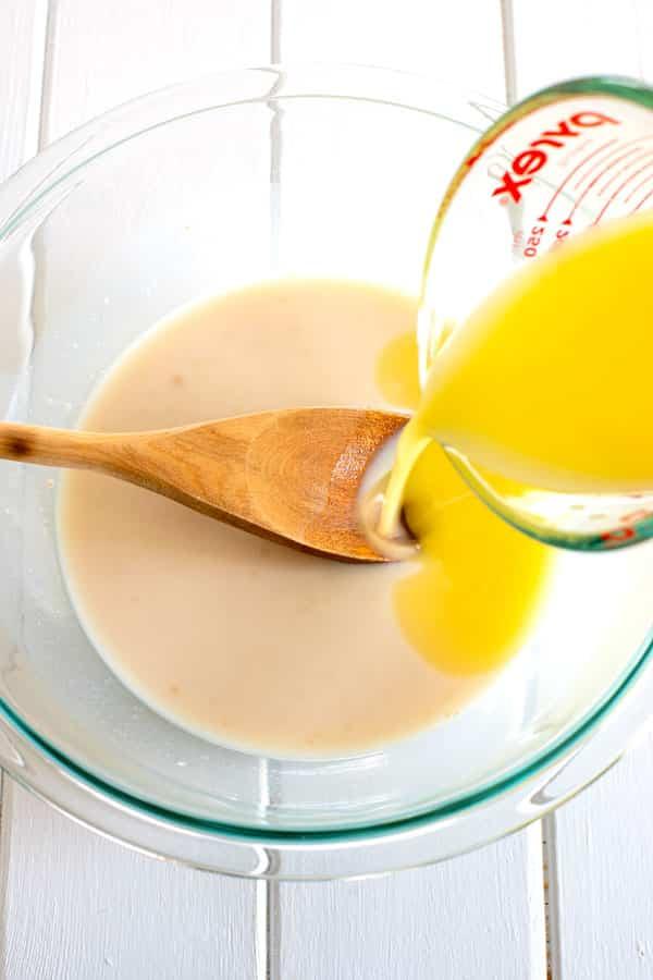Hawaiian Bread Rolls - add melted butter to liquid ingredients