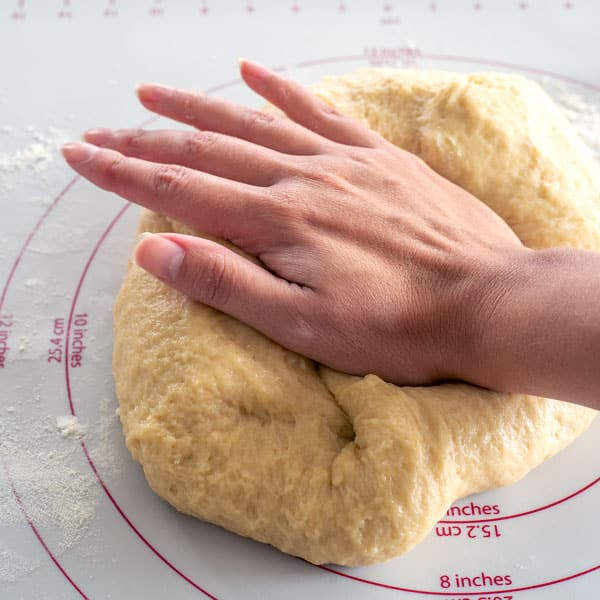Hawaiian Bread Rolls - kneed dough until smooth