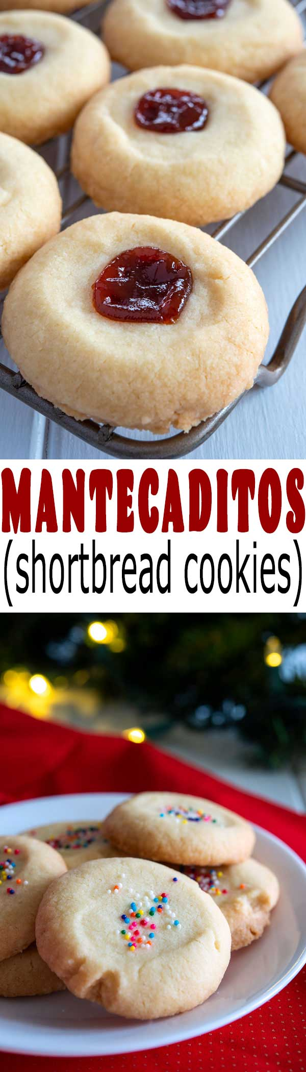Tender, crisp, buttery Mantecaditos - an easy dessert recipe from Puerto Rico! | sugar cookies | almonds | #christmascookies