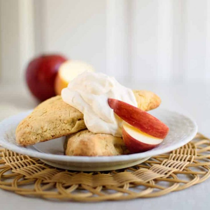 Apple Scones with Cinnamon Cream