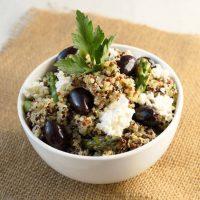 Quinoa Salad with Lemon Artichoke Pesto