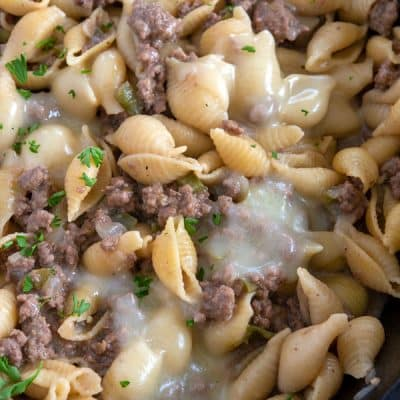 Philly Cheesesteak Pasta